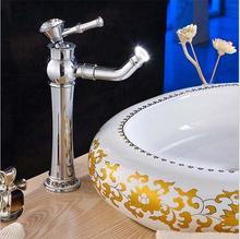 Buy Free chrome finish brass Faucet,bathroom faucets,basin faucets, tall high bathroom sink faucet toilet tap HJ-6577 for $55.00 in AliExpress store