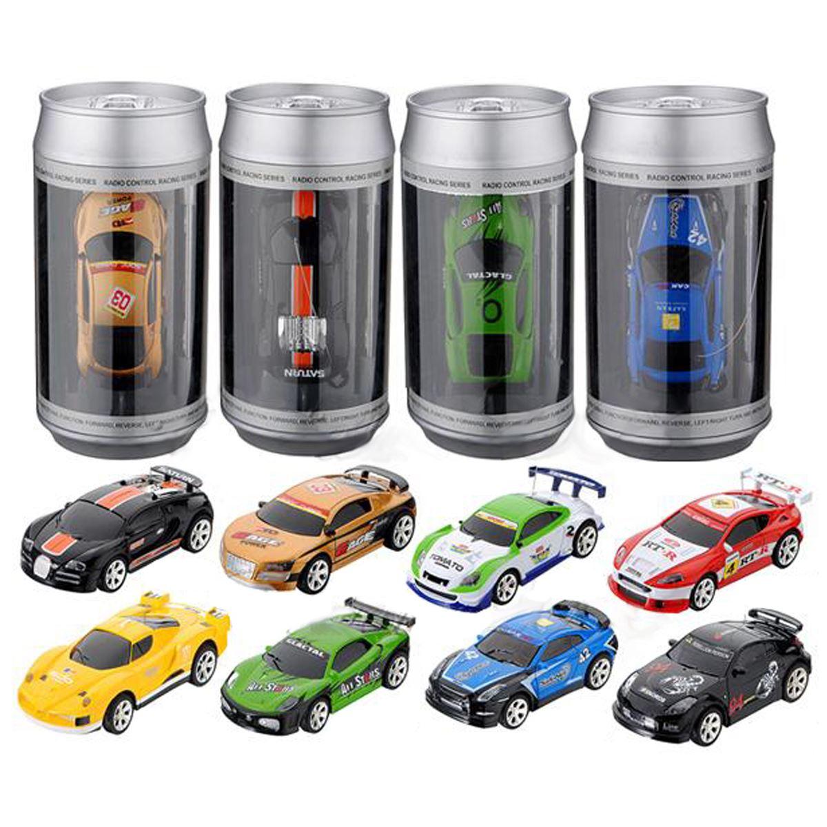 20KM/H Coke Can Mini RC Car Radio Remote Control Micro Racing Car 4 Frequencies(China (Mainland))