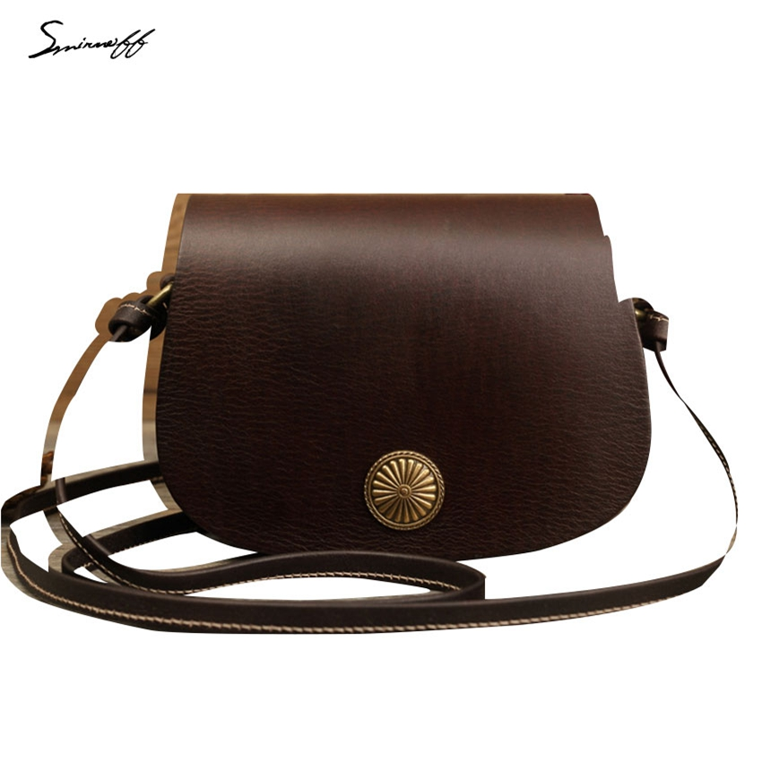Ladies tan leather shoulder bag