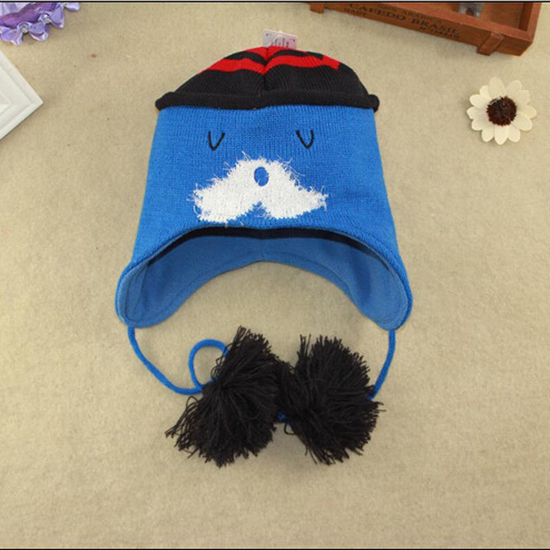 The new 2016 Christmas Child velvet hat ear protector cap fashion baby hat baby warm winter thickening big beard Santa hat(China (Mainland))