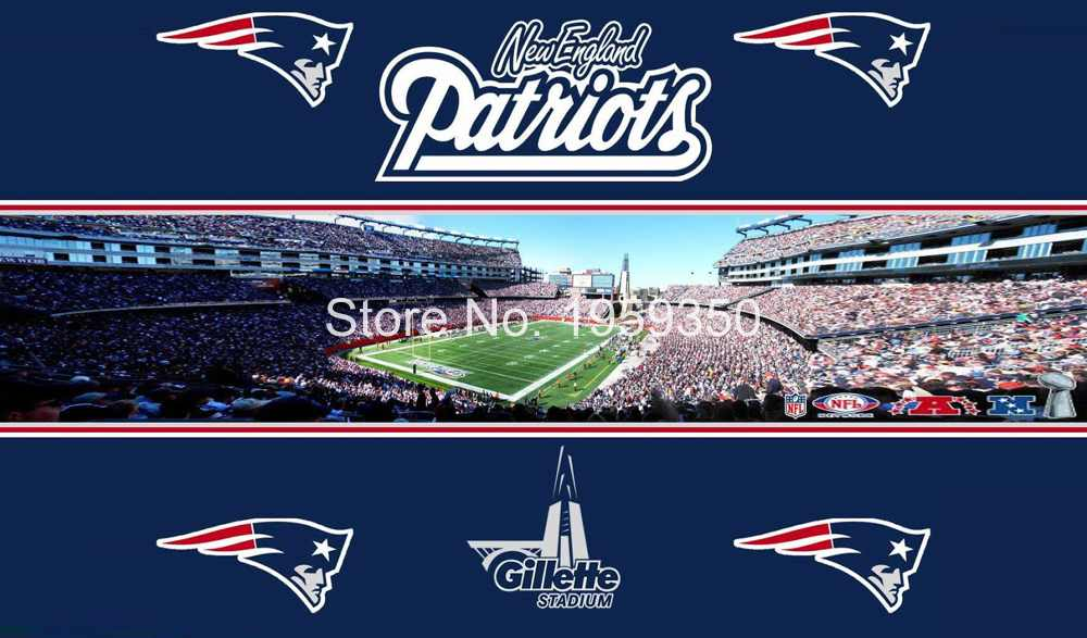 New England Patriots stadium Flag 3ft x 5ft Polyester banner white sleeve with 2 metal Grommets 90x150cm 40199(China (Mainland))