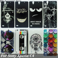 Case For Sony Xperia C4 Colorful Printing Drawing Phone Protect Cover For Sony Dual E5333 E5303 Fashion Plastic Hard Phone Cases
