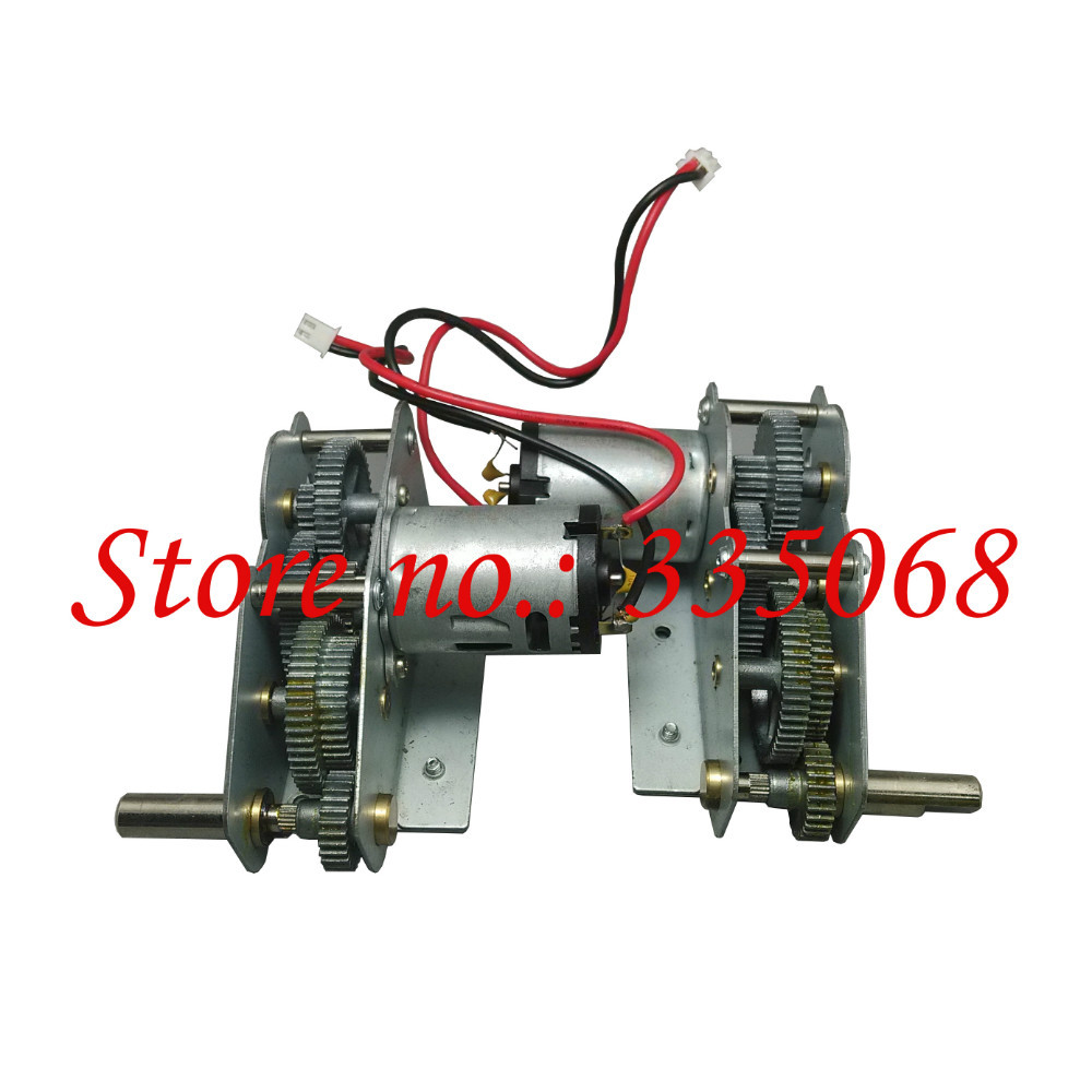 HENGLONG 3818/3818-1 RC tank German tiger I 1/16 spare part No.18-081 Driving gear box with alloy gear middle+low motor position(China (Mainland))