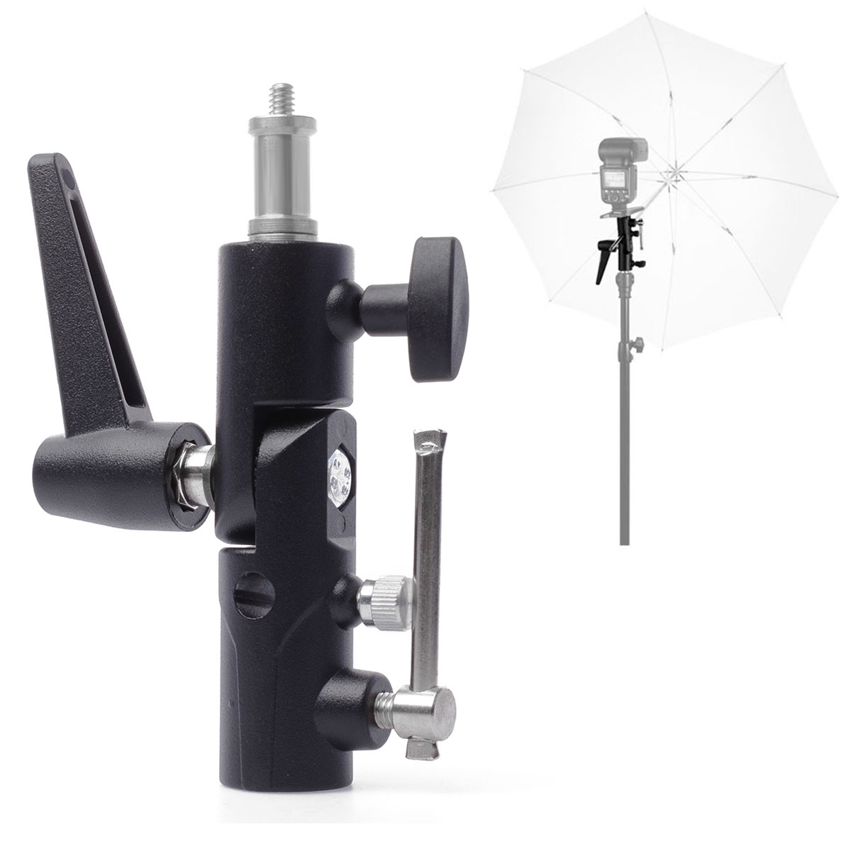 Flash Umbrella Holder Light Stand Bracket for Speedlite Strobe Photography