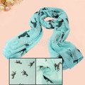 Pretty Running Horse Print Animal Scarf Shawl Warm Neck Wrap Stole Voile New