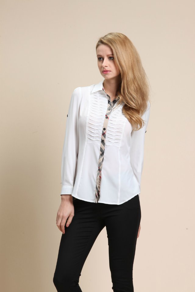 British style female OL female professional service women's brand new long-sleeved shirt factory outlets(China (Mainland))