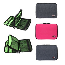 Large Double Layer Cable Organizer Bag Carry Case can put HDD USB Flash Drive Storage Bags(China (Mainland))
