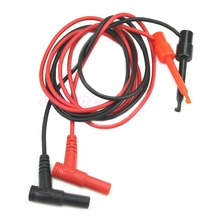 D19   1Pair Banana Plug To Test Hook Clip Probe Cable For Multimeter