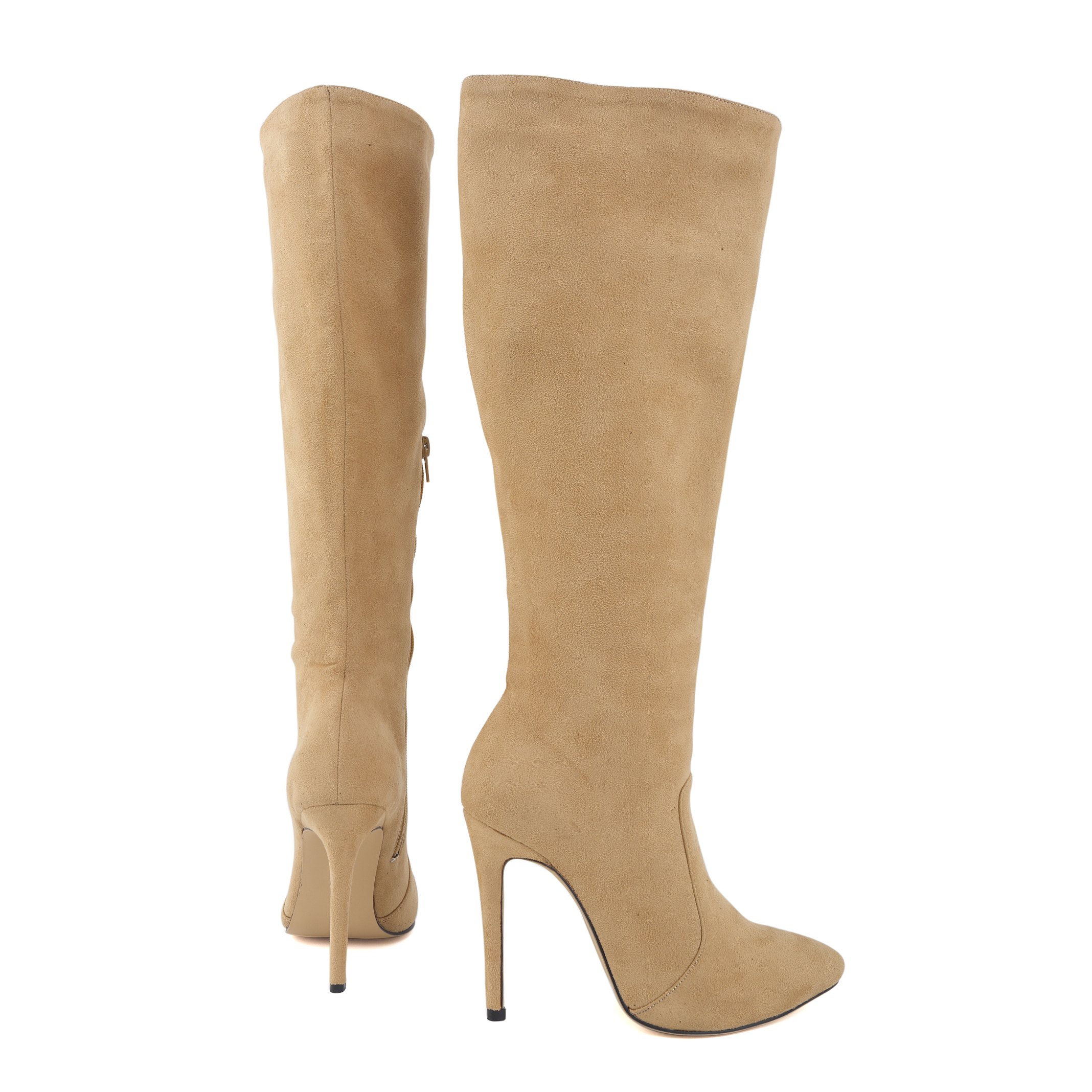 Women's winter boots Over Knee  Solid Fashion Velet Long Boot In Winter Pointed Toe High Heels Thin with Shoes 769-3VE