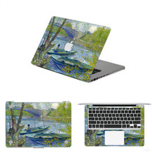 Retro Lake Boating Style Full Body Laptop Decal Stickers For Apple Macbook Air Pro Retina 11 13 15 Inch Protective Cover Skin(China (Mainland))