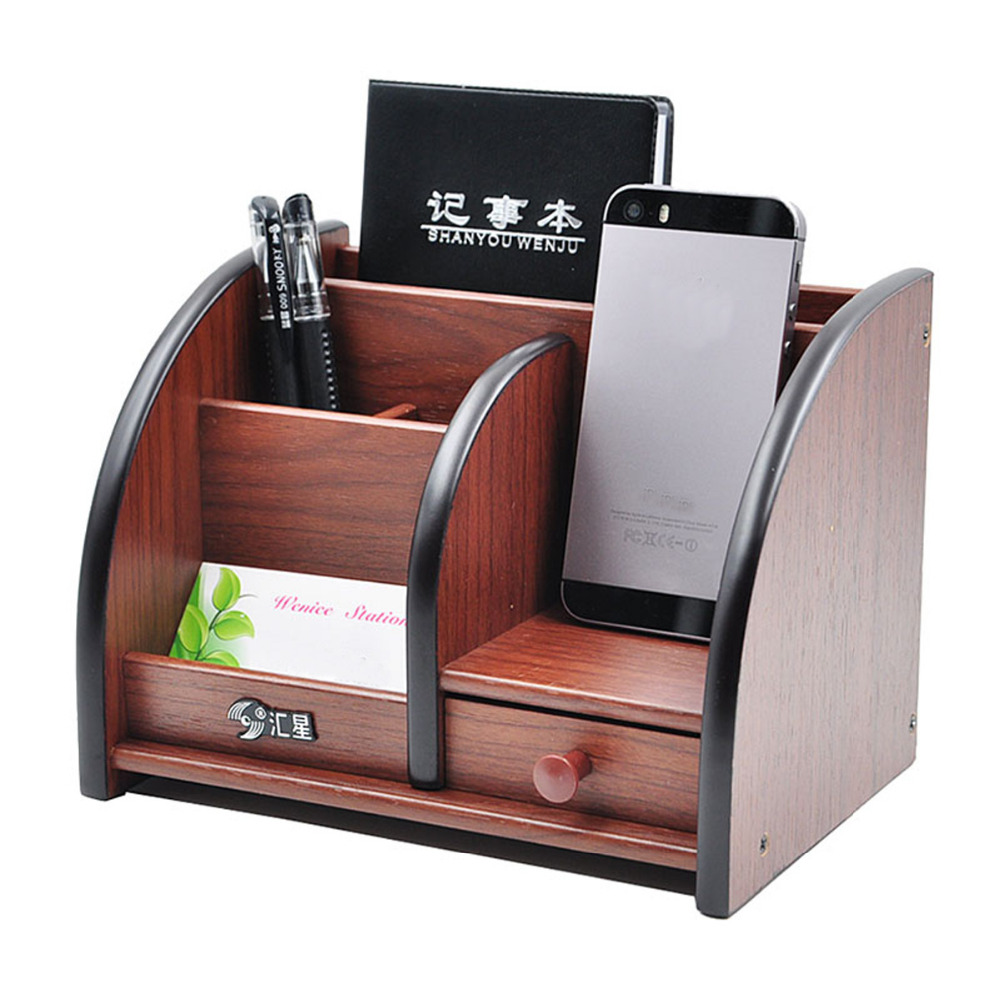 Wooden High Grade Multifunctional Desk Stationery