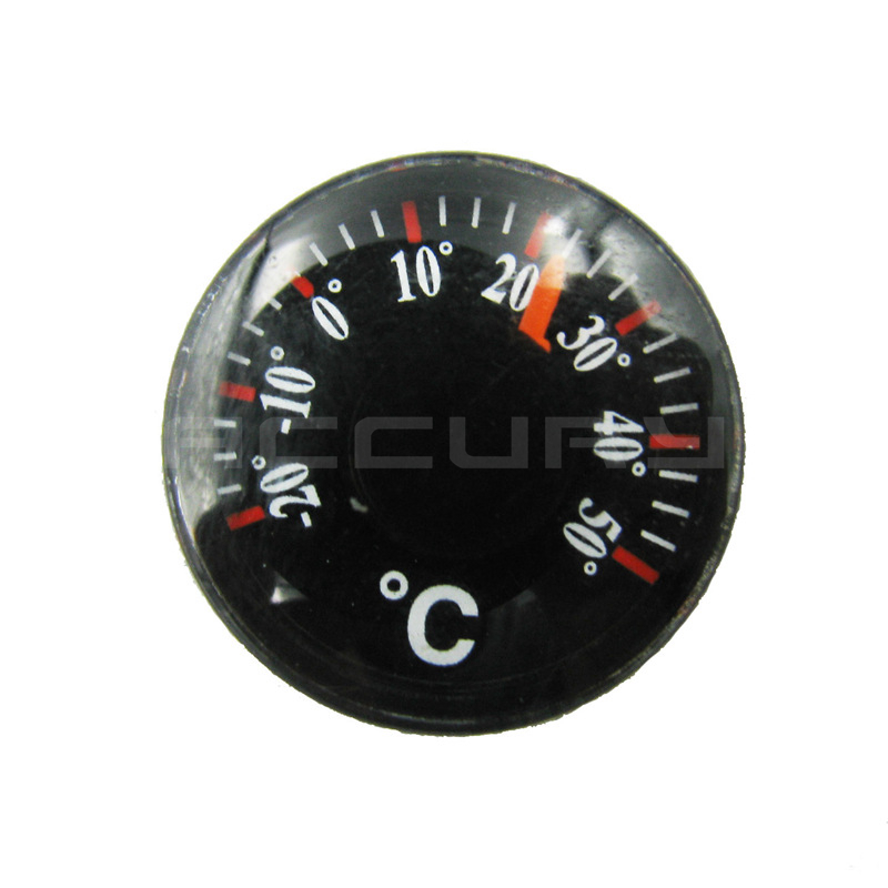 Diameter 20mm Plastic Round Mini Thermometer mini spirit Circular Thermograph Celsius hydrothermograph(China (Mainland))