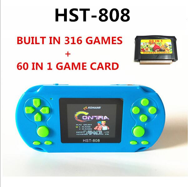 Limited 808 intelligence 2.5 inch screen child Color Colour Handheld Game Consoles Game Player with 376 different games(China (Mainland))