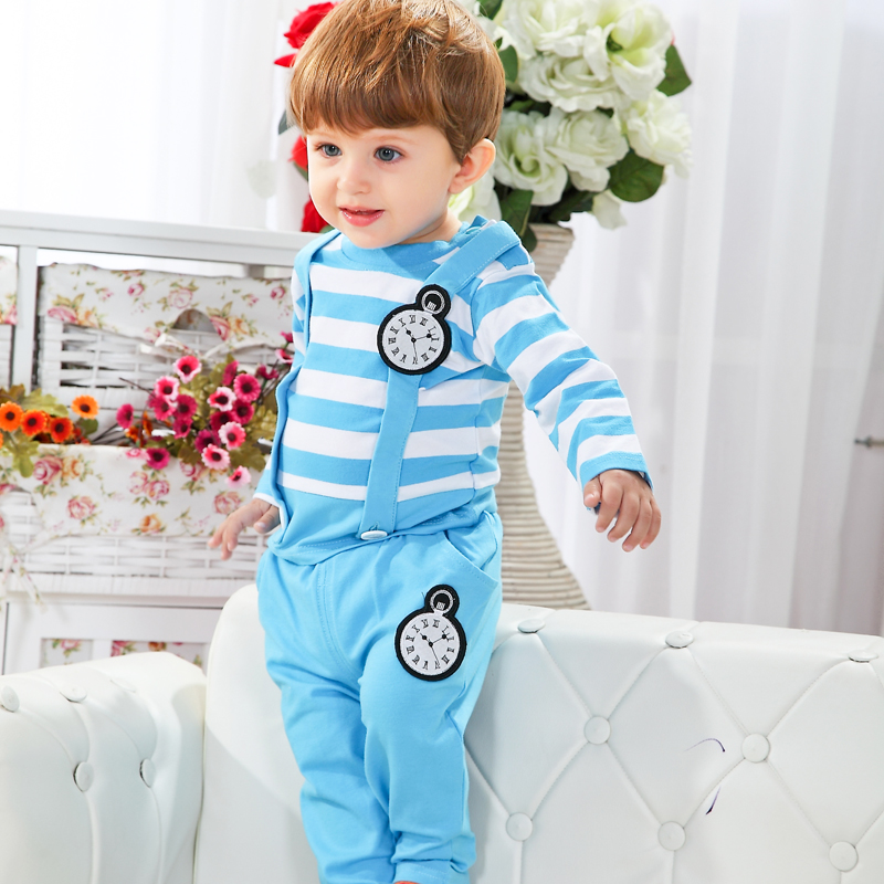 New England Style Infant Clothes Sets Spring Fashion Baby