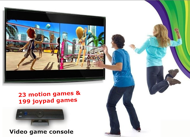2016 New 32 Bit i sports Motion TV Video Game Console with two joypad to play 222 games for kids birthday gift Free by DHL(China (Mainland))