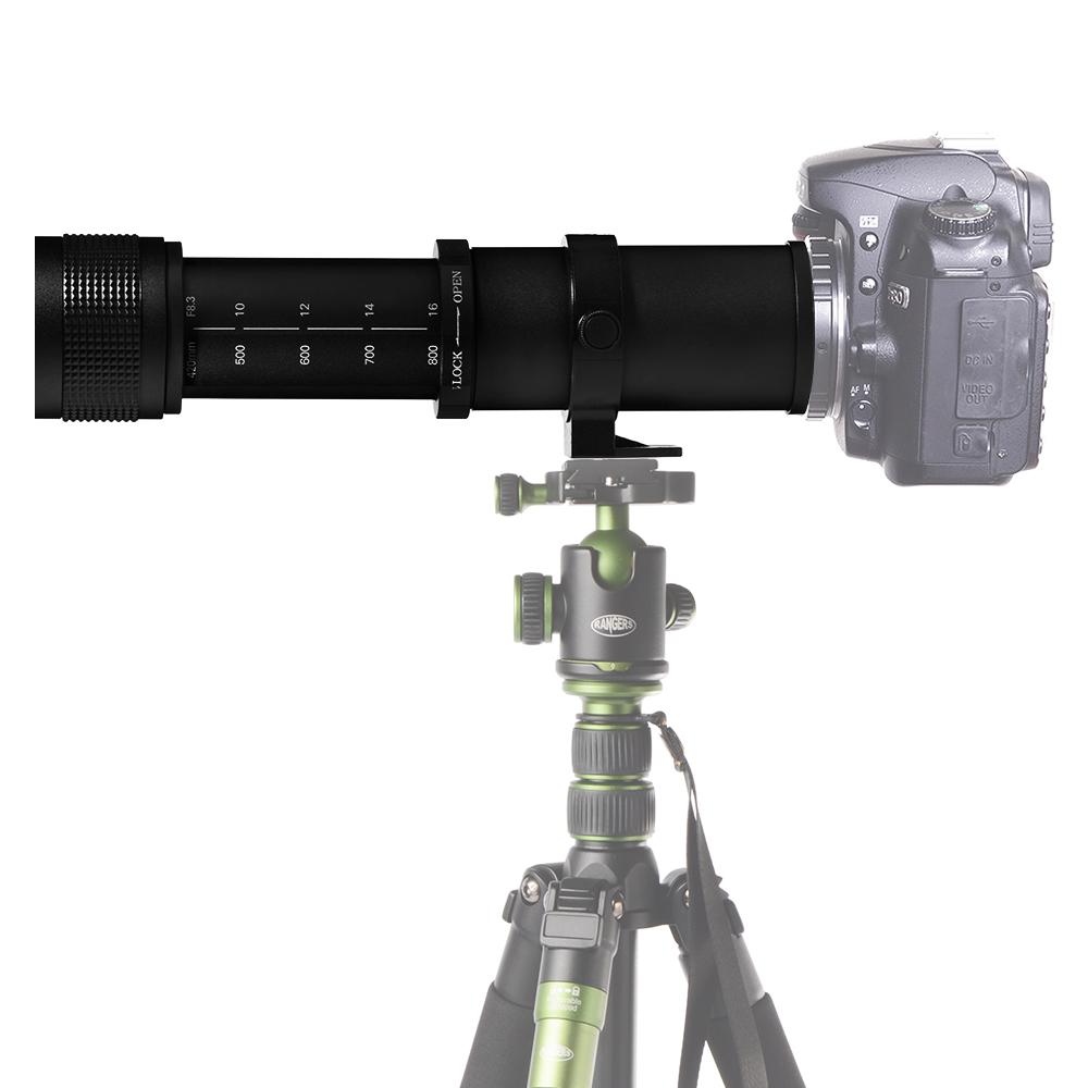 420-800mm F/8.3-16 Super Telephoto Lens Manual Focus Zoom TELE for Nikon Conon EOS DSLR Camera EF EF-S Mount Lens LF728(China (Mainland))