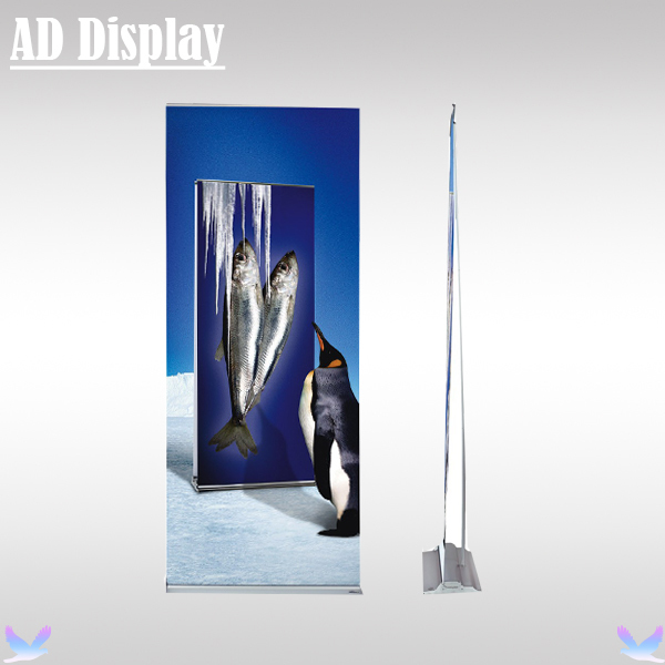 80*200cm 4PCS Trade Show Flat Wide Base Aluminum Roll Up Banner Stand,Premium Exhibition Advertising Signage Display Equipment(China (Mainland))