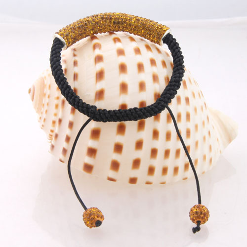 One Direction Fashion Yellow Color Crystal Ball&Tube Bracelets Bangles Female Accessories Shamballa Bracelet Jewelry CH1768 - Disha Findings store