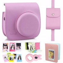 New Arrival 7 in 1 Fujifilm Instax Mini 8 Camera Accessories Bundle( Pink Instax Mini 8 Case/ Photo Case/3 L Model Frame…)