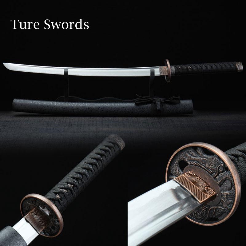 Trueswords домашнего декора декоративное искусство полный тан ручной катана меч ниндзя резкое катана самурай японский меч S21405Z