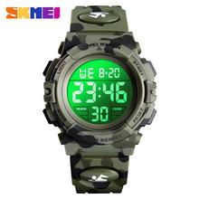 SKMEI Military Kids Sport zegarki 50M wodoodporny elektroniczny zegarek na rękę Stop Watch zegar cyfrowy zegarek dla dzieci dla chłopców dziewcząt(China)