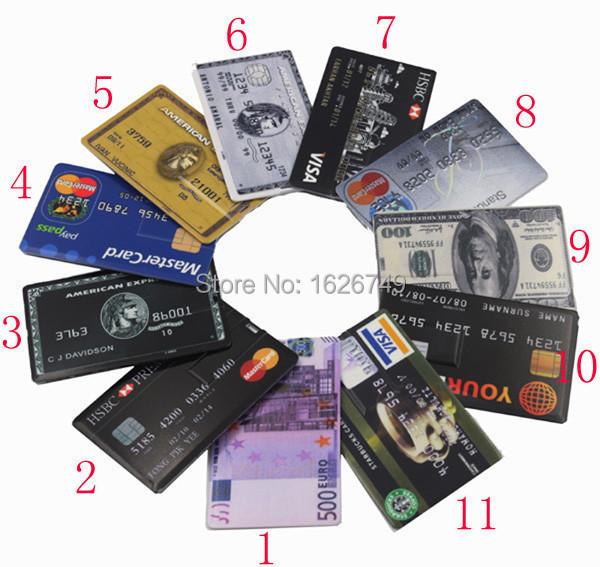 Wholesale 4GB 8GB 16GB 32GB Bank Credit Card Shape USB Flash Drive Pen Drive Memory Card Stick Pendrive U Disk free shipping(China (Mainland))