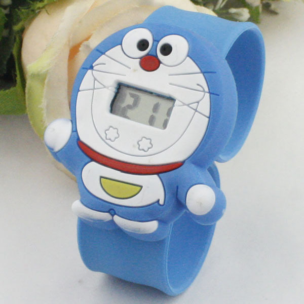 Doraemon cartoon cat pat watches wholesale children's electronic tape measure student section multicolor watch factory outlets(China (Mainland))