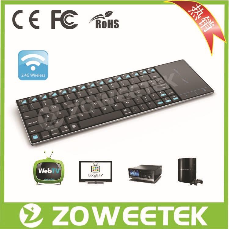 2.4G Mini Wireless Touchpad Keyboard for PC HTPC Computer ZW-51012(China (Mainland))