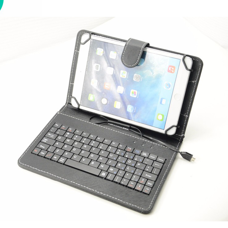 """Universal Leather Case 7"""" Micro USB Keyboard Cover Tablet Screen Protection With OTG For ipad Mobile 7 Colors(China (Mainland))"""