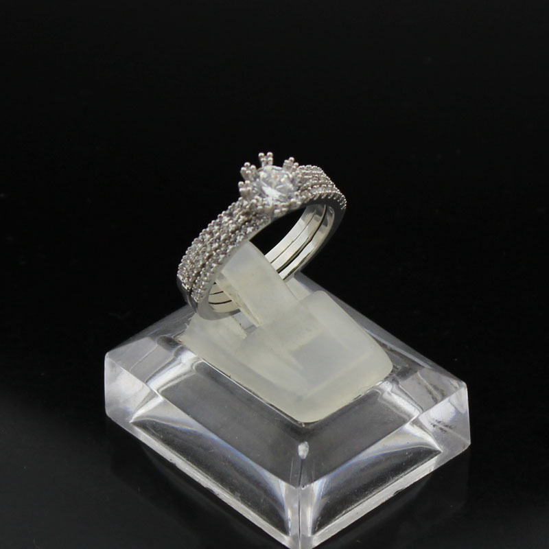 Aliexpress Buy Hot Sale Wedding Rings Plated Platinum Prong Setting Austria AAA Cubic