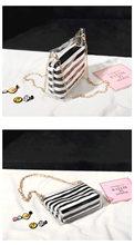 2019 novo PVC Transparente bolsa de ombro geléia bolsa Transparente com Tarja cadeia saco balde Mensageiro saco do telefone móvel(China)