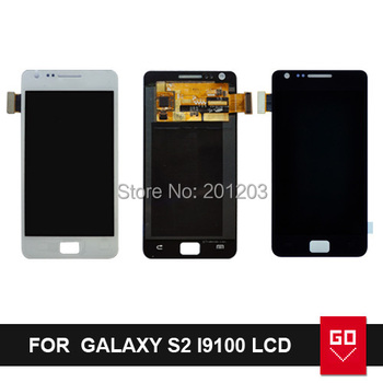 100% Guarantee For Samsung I9100 Galaxy S2 SII Full LCD With Touch Screen Digitizer Assembly Black White Color+Tool
