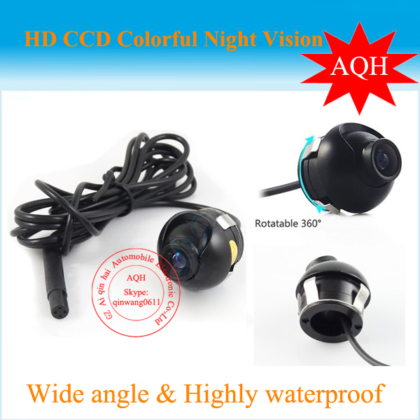 Promotion Sony CCD HD night vision car rear view camera front view side view rear monitor for 360 degree Rotation Universal fit(China (Mainland))