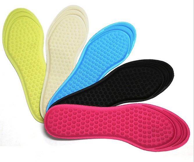 Lady cotton insoles Fresh, breathable dry deodorant sweat sports shoes heels cushioning Innersole pad Free shipping(China (Mainland))