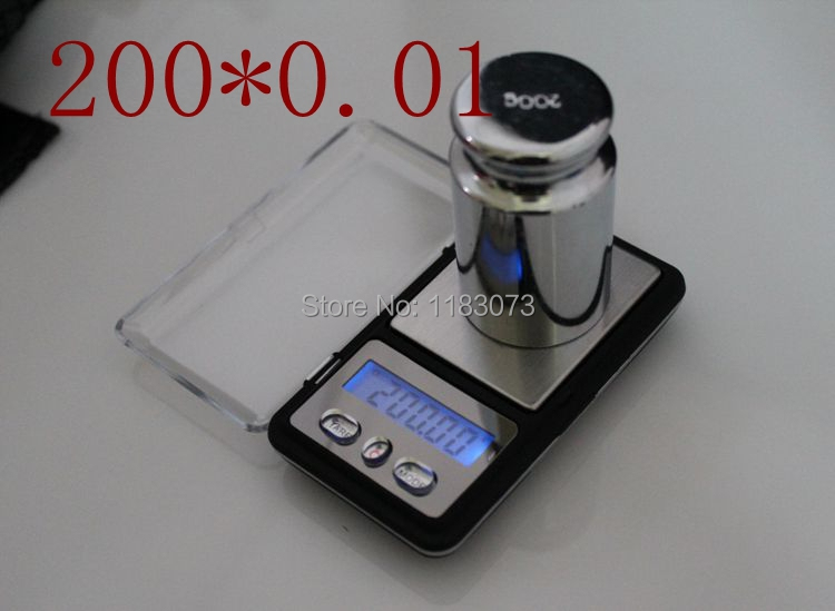 Brand 200g 0.01 Mini Electronic Digital Pocket Jewelry weigh Scale 200g x 0.01g Balance Gram scales with retail Free Shipping<br><br>Aliexpress
