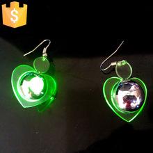 Flash Light Up LED Earring Drop Blinking Christmas Earrings Light Up Amazing Fashion LED Ear Rings LED Studs Party 2000pcs/lot(China (Mainland))