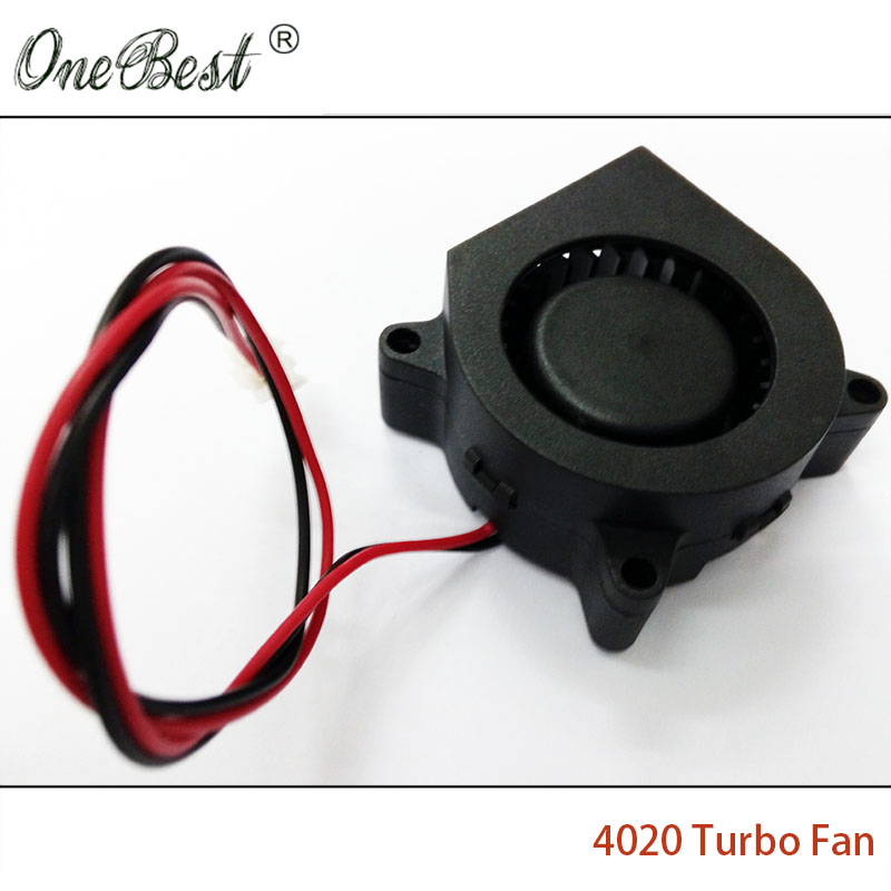 10Pcs DIY Parts 4020 cooling fan 12V 0 05A Turbo fan for 3D printer accessories 40x40x20mm
