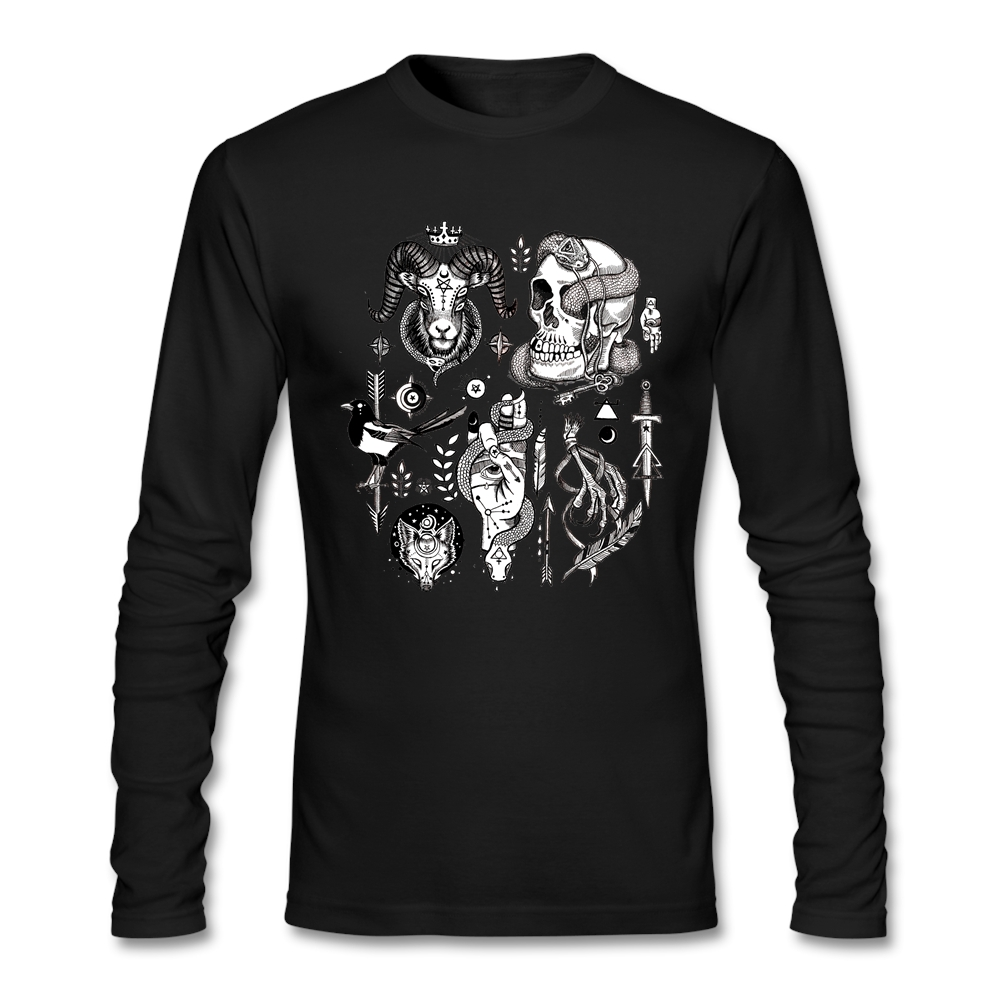 Interesting Untitled Product Male Spring T Shirt Softy Fabric Long Sleeves Tee Shirts(China (Mainland))