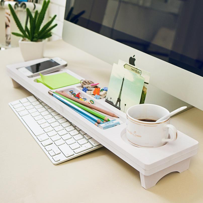 The Keyboard Shelf Storage Rack Korean Multi-function Desktop Mobile Phone Keyboard Shelf Office Desktop Debris Layer Frame(China (Mainland))