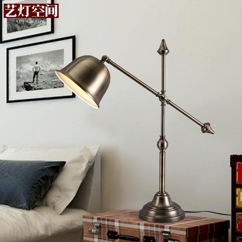 [Space] Antique Brass Lamp Art Lamp Bedroom Bedside Lamp