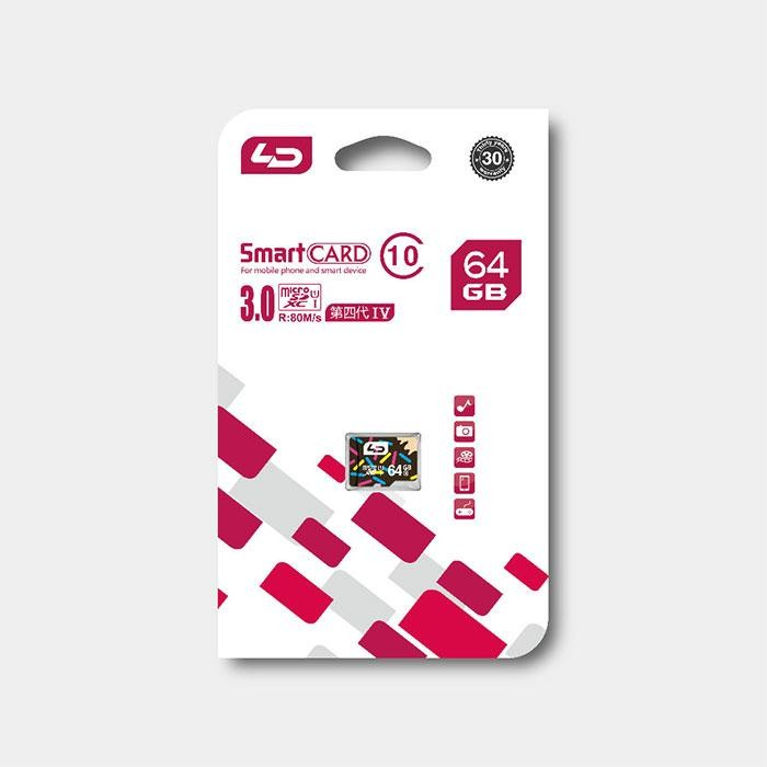 Real Capacity Micro SD Card 64GB UHS-1 64GB Storage Memory Card Flash Memory Microsd for Phone