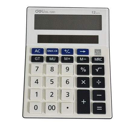 1281 Free desktop calculator 12 solar cell financial office stationery(China (Mainland))