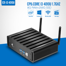 Mini PC I3 4010u 8g Ram 256g Ssd+wifi Desktop Computer Fanless Design Mini Desktop Pc Small Computer Case Operative Memory DDR3(China (Mainland))