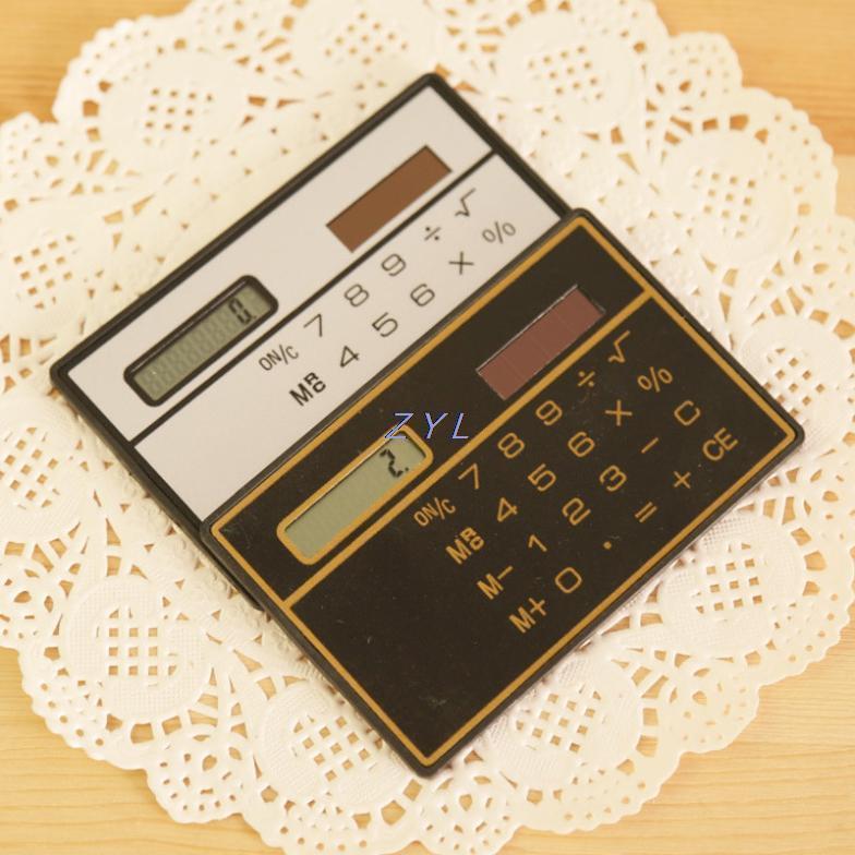 Гаджет  2015 Top Fashion Real General Purpose 8 Calculadora Solar Calculadora Calculator F098 Slim Card Calculator Solar None Компьютер & сеть