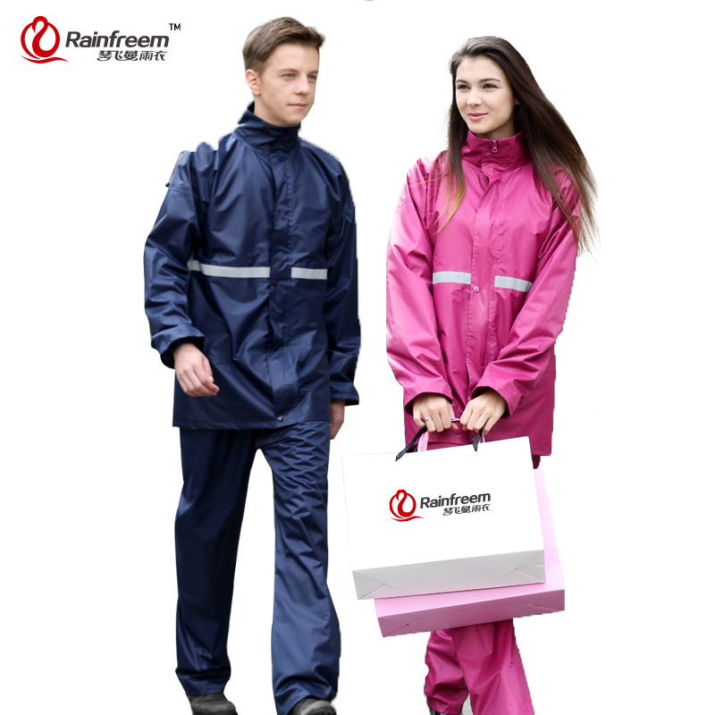 Rainfreem Impermeable Raincoat Women&Men Suit Rain Coat Outdoor Women Hood Motorcycle Raincoat Camping Fishing Rain Gear Poncho(China (Mainland))