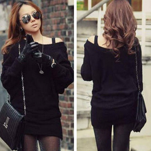 2016 new Women Winter Batwing Sleeves Knitted long Sleeve cardigan Jumpers Sexy Girl's Cashmere Casual Tops Sweater Dress WC1(China (Mainland))