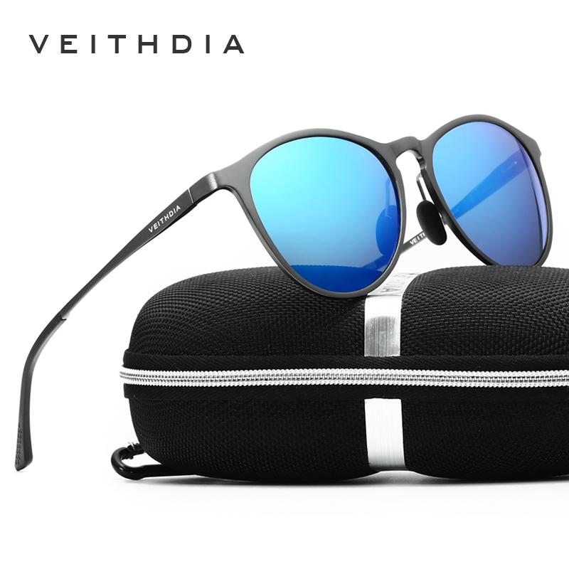 VEITHDIA Unisex Retro Aluminum Magnesium Brand Sunglasses ...