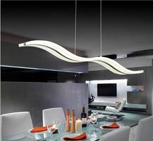38W Modern creative fashion S-shaped acrylic pendant AC85-265V Simple LED Fishing Line pendant Restaurant Bar table lamp(China (Mainland))