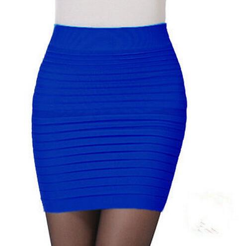 royal blue a line mini skirt clubwear pencil