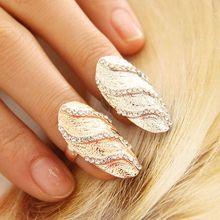 J252 ring wholesale manufacturers selling Europe hot fashion diamond ring nails wave pattern